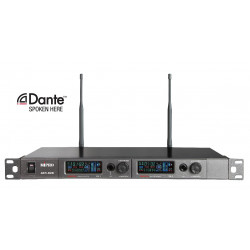 ACT-828 Dante Digital Encryption-Capable Dual Channel Wireless Receiver