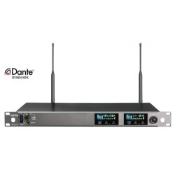 ACT-72 Dante Enabled UHF Dual-Channel Wideband Wireless Receiver