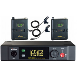 ACT-5802/ACT-58T2 Dual Channel 5.8GHz Bodypack Digital Wireless System